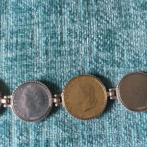 MILOR Ster. Italy Jewelry - MILOR Italy Sterling Coin Bracelet